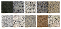 Butterfly Green Granite, Dallas White Granite, Delicatus White Granite, Giallo Napoli Granite, Gold Brazil Granite, Ice Glue Granite, Luna Pearl Granite, Moon Light Granite, Moon Valley Granite, Venetian Gold Granite