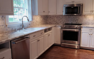 Marble Countertops with Marble backsplash